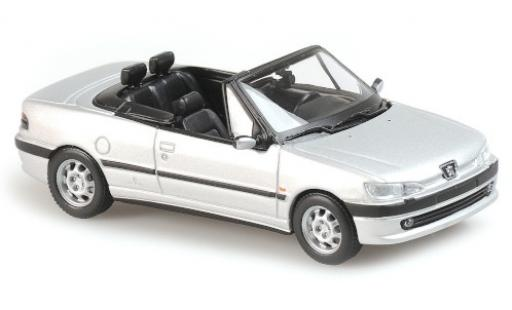 Peugeot 306 1/43 Maxichamps Cabriolet matt-grey 1998 diecast model cars