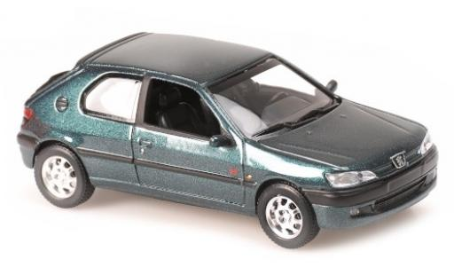 Peugeot 306 1/43 Maxichamps metallise green 1998 diecast model cars