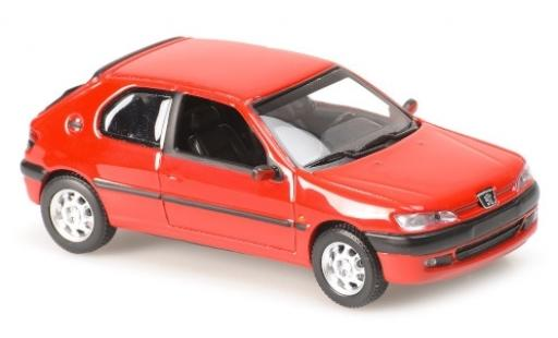 Peugeot 306 1/43 Maxichamps rouge 1998 miniature
