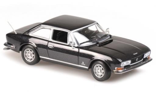 Peugeot 504 1/43 Maxichamps Coupe metallise anthrazit 1976 diecast model cars