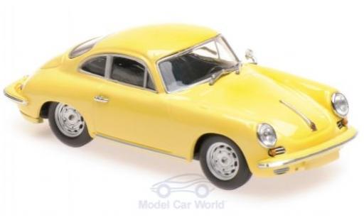 Porsche 356 1/43 Maxichamps C Carrera 2 yellow 1963 diecast model cars