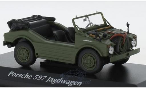 Porsche 597 1/43 Maxichamps Jagdwagen oliv 1954 miniature