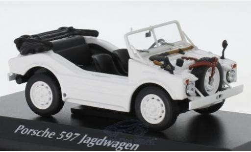 Porsche 597 1/43 Maxichamps Jagdwagen blanche 1954 miniature