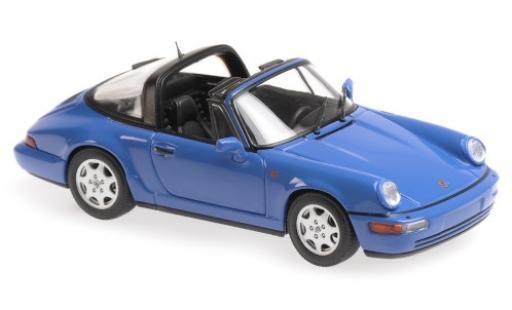 Porsche 964 1/43 Maxichamps 911  Carrera 2 Targa bleue 1991 miniature