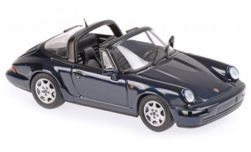 Porsche 964 1/43 Maxichamps 911  Carrera 2 Targa metallise green 1991 diecast model cars