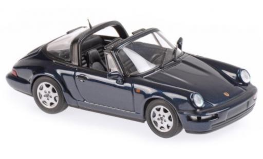 Porsche 964 1/43 Maxichamps 911  Carrera 2 Targa metallise verte 1991 miniature