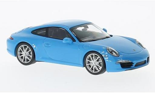 Porsche 991 S 1/43 Maxichamps 911  Carrera bleue 2012 miniature