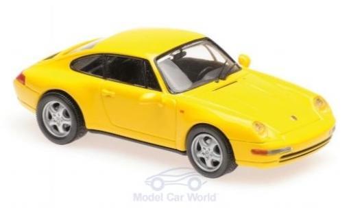 Porsche 911 1/43 Maxichamps (993) jaune 1993 miniature