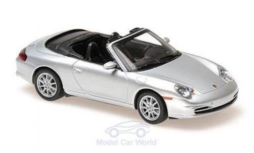 Porsche 996 1/43 Maxichamps 911  Cabriolet grise 2001 miniature