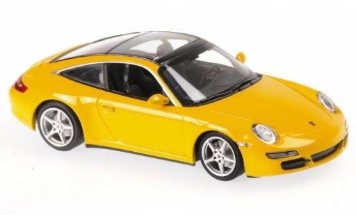 Porsche 997 Targa 1/43 Maxichamps 911  yellow 2006 diecast model cars