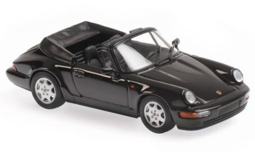 Porsche 964 1/43 Maxichamps 911 Carrera 4 Cabriolet  black 1990 diecast model cars