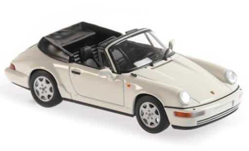 Porsche 964 1/43 Maxichamps 911 Carrera 4 Cabriolet  blanche 1990 miniature