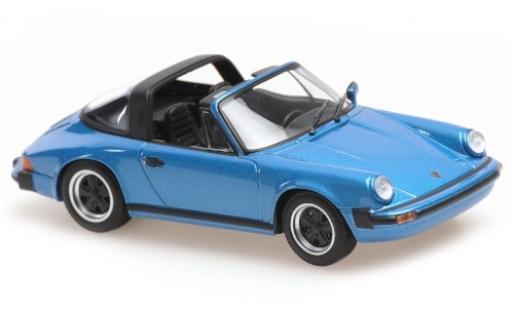 Porsche 930 Targa 1/43 Maxichamps 911 metallise bleue 1977 miniature