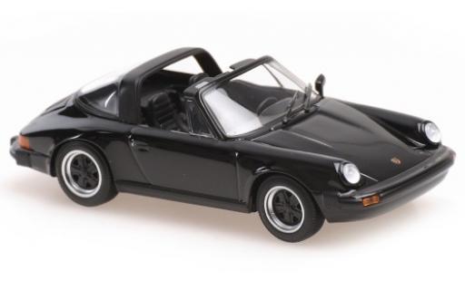 Porsche 930 Targa 1/43 Maxichamps 911 black 1977 diecast model cars