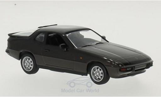 Porsche 924 1/43 Maxichamps metallise marron 1984 miniature