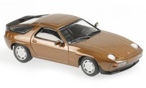 Porsche 928 1/43 Maxichamps S metallise marron 1979 miniature
