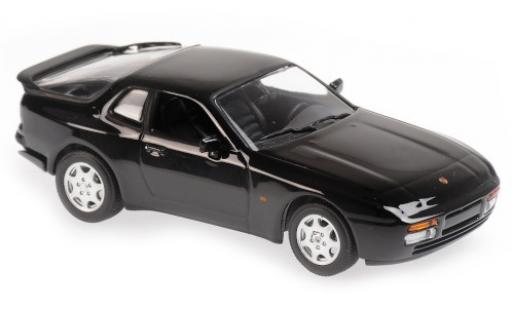 Porsche 944 1/43 Maxichamps S2 black 1989 diecast model cars
