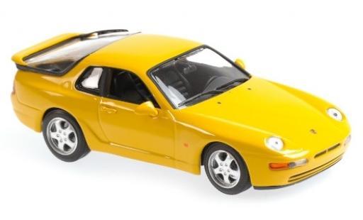 Porsche 993 1/43 Maxichamps 968 CS yellow 1 diecast model cars