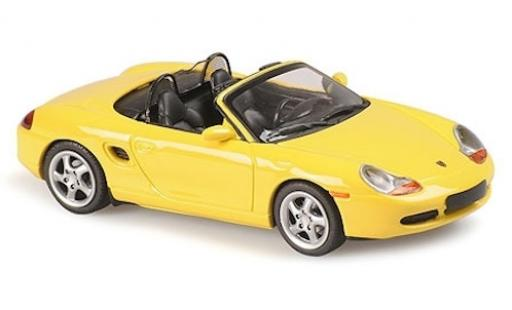 Porsche Boxster 1/43 Maxichamps S jaune 1999 miniature