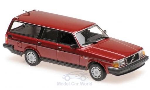 Volvo 240 1/43 Maxichamps GL Break metallise rouge 1986 miniature