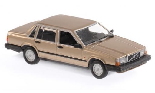 Volvo 740 1/43 Maxichamps GL gold 1986 miniature