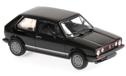Volkswagen Golf 1/43 Maxichamps I GTI negro 1983 coche miniatura