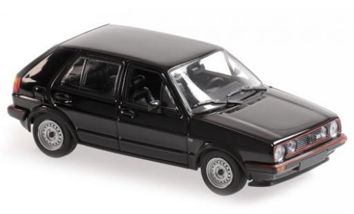 Volkswagen Golf 1/43 Maxichamps II GTI black 1985 5-portes diecast model cars