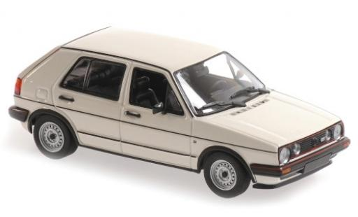 Volkswagen Golf 1/43 Maxichamps II GTI white 1985 5-portes diecast model cars
