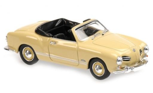 Volkswagen Karmann 1/43 Maxichamps Ghia Cabriolet (Typ 14) beige 1955 miniature