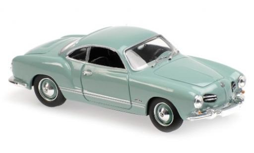 Volkswagen Karmann 1/43 Maxichamps Ghia Coupe bleue 1955 miniature