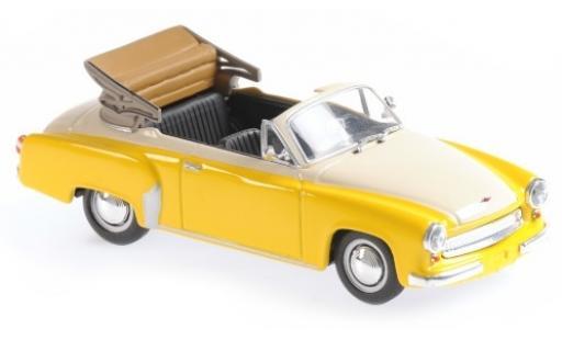 Wartburg 311 1/43 Maxichamps Cabriolet jaune/blanche 1958 miniature