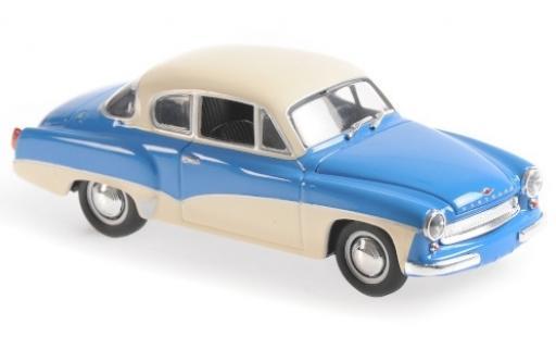 Wartburg 311 1/43 Maxichamps Coupe bleue/blanche 1958 miniature