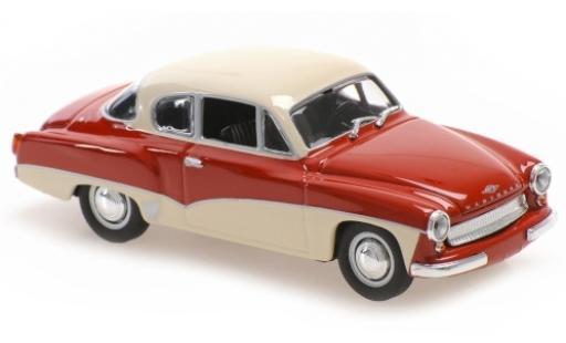 Wartburg 311 1/43 Maxichamps Coupe rouge/blanche 1958 miniature