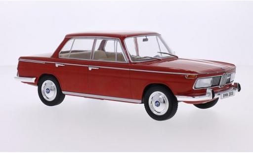 Bmw 2000 1/18 MCG (Typ 120) rosso 1966 les portes et capos fermé modellino in miniatura