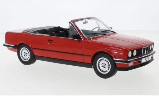 Bmw 325 1/18 MCG i (E30) Cabriolet red 1985 diecast model cars