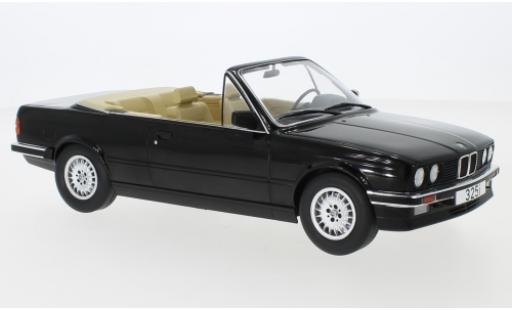Bmw 325 1/18 MCG i (E30) Cabriolet black 1985 diecast model cars