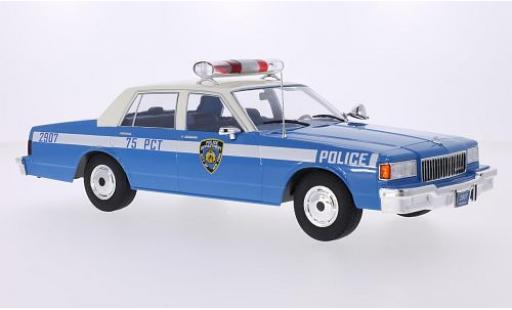 Chevrolet Caprice Classic 1/18 MCG Sedan azul Police 1985 les portes et capos fermé coche miniatura