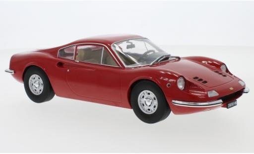 Ferrari Dino 1/18 MCG 246 GT rouge 1969 miniature