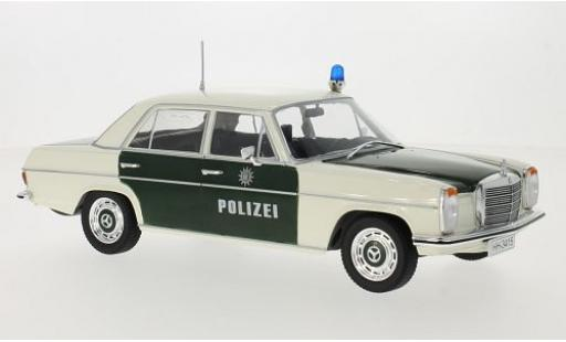 Mercedes 220 1/18 MCG /8 (W115) verte/blanche Polizei 1973 les portes et capos fermé miniature