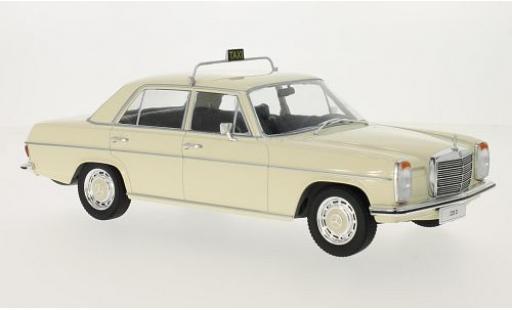 Mercedes 220 1/18 MCG D/8 (W115) beige Taxi 1973 coche miniatura