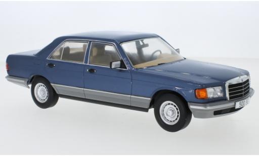Mercedes Classe S 1/18 MCG (W126) metallise bleue 1979 miniature