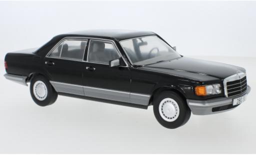 Mercedes Classe S 1/18 MCG (W126) noire 1979 miniature