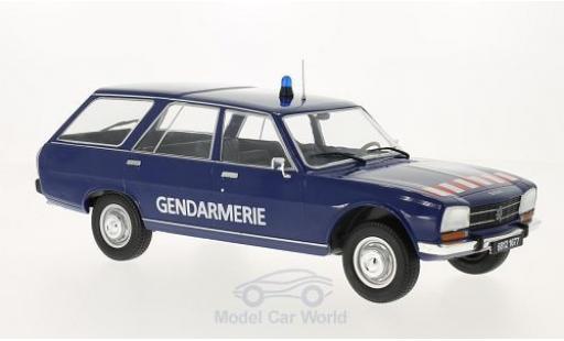 Peugeot 504 Break 1/18 MCG bleue Gendarmerie 1976 Türen und Hauben geschlossen miniature