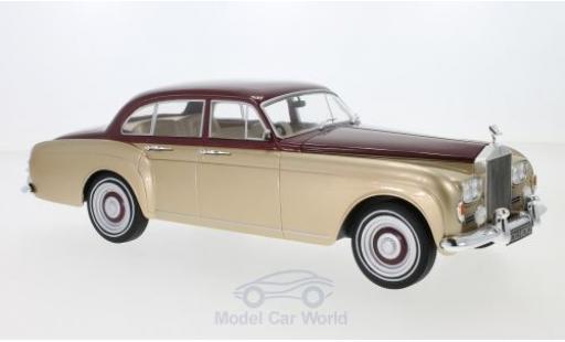 Rolls Royce Silver Cloud 1/18 MCG III Flying Spur H.J.Mulliner metallise rouge/metallise beige RHD 1965 miniature