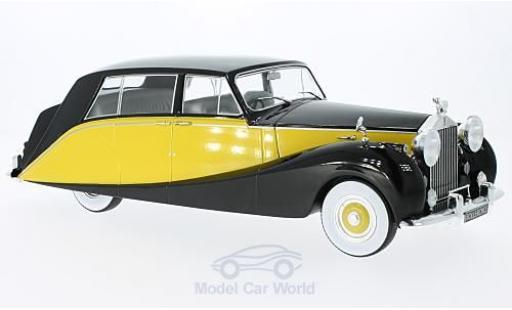 Rolls Royce Silver Wraith 1/18 MCG Empress by Hooper noire/jaune RHD 1956 miniature