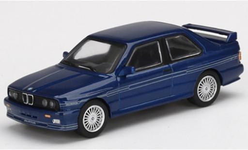 Bmw M3 1/64 Mini GT (E30) Alpina B6 3.5S bleue/Dekor miniature