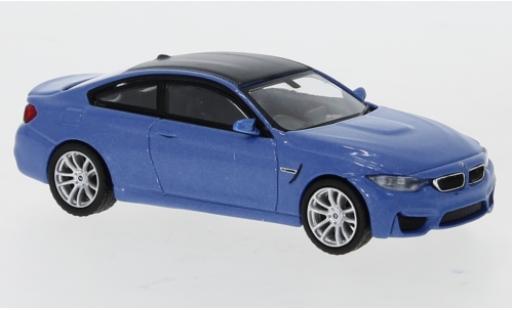 Bmw M4 1/64 Mini GT (F82) metallise bleue/carbon RHD miniature