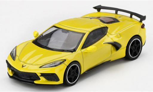 Chevrolet Corvette 1/64 Mini GT (C8) Stingray metallise yellow 2020 diecast model cars