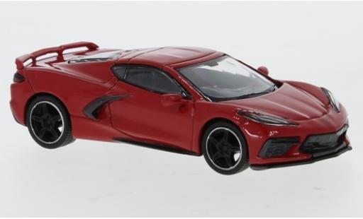 Chevrolet Corvette 1/64 Mini GT (C8) Stingray rosso RHD 2020 modellino in miniatura