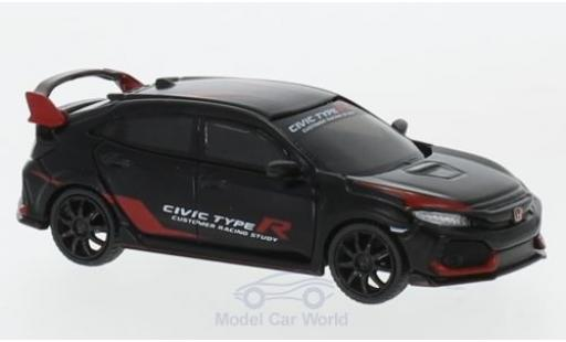 Honda Civic 1/64 Mini GT Type R (FK8) matt-noire/rouge Customer Racing Study miniature